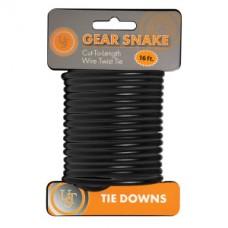 Gear Snake™ - Стоманено въже, черен цвят