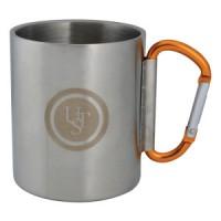 Метална чаша с двойни стени и карабинер