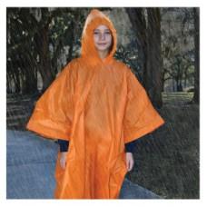 Пончо за дъжд, цвят оранжев, за младежи