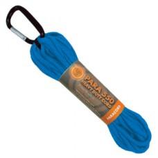 Въже с карабинер, 9м, син цвят