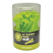 Пластмасови колчета, 15см, 36 броя, цвят GLO