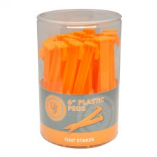 Пластмасови колчета, 15см, 36 броя, оранжев цвят
