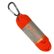 Въже с карабинер, 30м, оранжев цвят