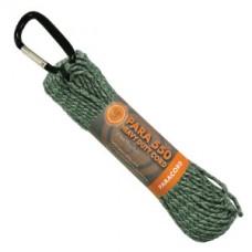 Въже с карабинер, 9м, цвят камуфлаж