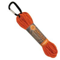 Въже с карабинер, 9м, оранжев цвят