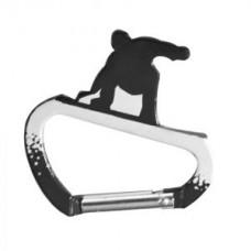 Карабинер с форма на сноубордист