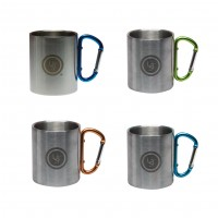 Метални чаши с карабинер, сет от 4 броя