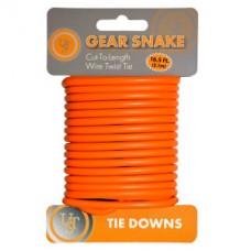Gear Snake™ - Стоманено въже, оранжев цвят