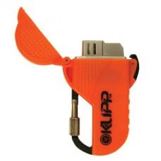 Запалка с клип, оранжев цвят