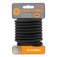 Gear Cobra™ - Стоманено въже, черен цвят